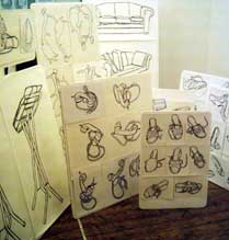 Drawings from teh Living room exhibition