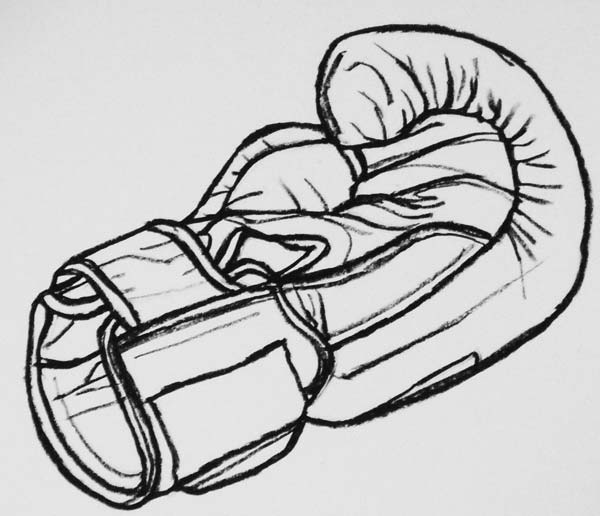how to draw boxing gloves from arm