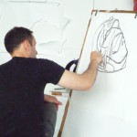 Drawing in my studio
