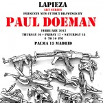 Paul Doeman at Lapieza art gallery, Madrid.