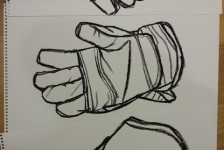 Gardening gloves drawing