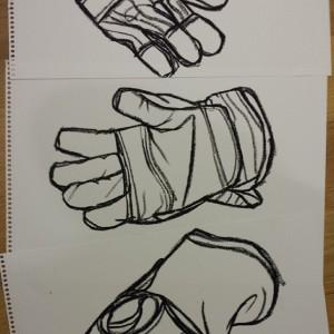 Gardening gloves drawing