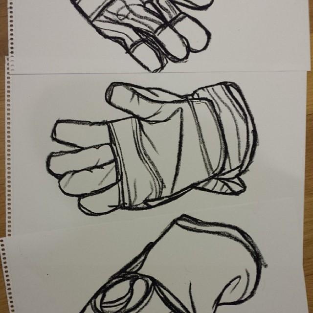 Working glove drawing drawings art artist