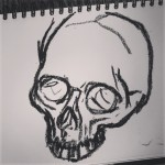 Skull hrad drawing - oil pastel on paper.  #drawings #drawing  #draw #skull #art #artist