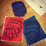 #drawing #draw #art #art #modernart #art Different Finish hockey glove drawings on paper.