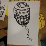 Ice hockey helmet.  Oil pastel on paper.  #art #illustration #drawing #draw #TagsForLikes #picture #artist #sketch #sketchbook #paper #pen #pencil #artsy #instaart #beautiful #instagood #gallery #masterpiece #creative #photooftheday #instaartist #graphic #graphics #artoftheday