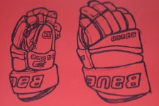 Ice Hockey gloves drawings