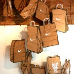 Nike brown paper bag