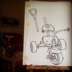 Tricycle. Work in progress.  Oil pastel on paper. #art #illustration #drawing #draw  #picture #artist #sketch #sketchbook #paper #pen #pencil #artsy #instaart #beautiful #instagood #gallery #masterpiece #creative #photooftheday #instaartist #graphic #graphics #artoftheday #berlin #