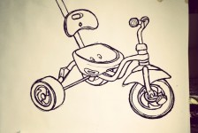 Tricycle drawings in progress.