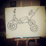 Eine andere Dreirad. Öl pastel auf Papier. Another tricycle. Oil pastel on paper. Work on progress.  #art #illustration #drawing #draw  #picture #artist #sketch #sketchbook #paper #pen #pencil #artsy #instaart #beautiful  #gallery #masterpiece #creative #photooftheday #instaartist #graphic #graphics #artoftheday #berlin