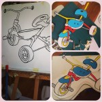 "Work in progress. Tricycles for ""Berlin objects"" show at  LA ULTIMA CENA, Urbanstrasse 101, u8 Hermannplatz. #berlin #art #illustration #drawing #draw #picture #artist #sketch #sketchbook #paper #pen #pencil #artsy #instaart #beautiful #instagood #gallery #masterpiece #creative #photooftheday #instaartist #graphic #graphics #artoftheday"