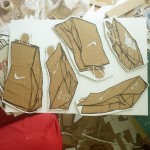 Nike paper bag drawings