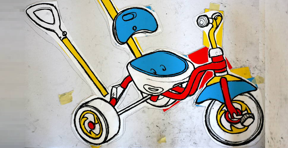 Berlin tricycle drawing - work in progress