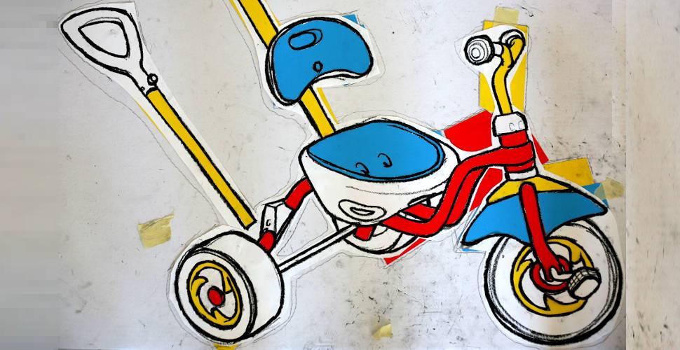 Berlin tricycle drawing - work in progress