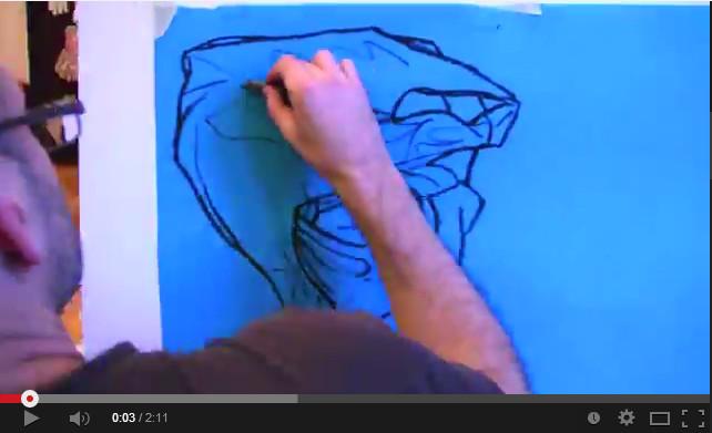 Drawing blue bags in BErlin