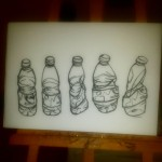 Plastic water bottle. Oil pastel on paper. #art #illustration #drawing #draw #picture #artist #sketch #sketchbook #paper #pen #pencil #artsy #instaart #beautiful #instagood #gallery #masterpiece #creative #photooftheday #instaartist #graphic #graphics #artoftheday #water #bottle #berlin #berlin #deutchland