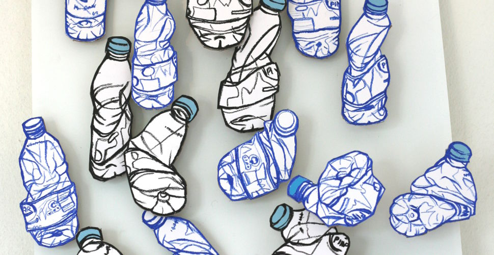 Water bottle drawings