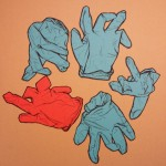 Disposable glove drawing