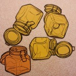 Glass storage jar drawing