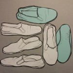 Drawing of my right slipper.