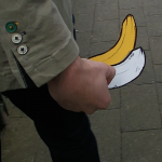Banana drawings at Chrisp street market