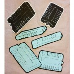 Drawings of an ice pack.