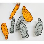 Drawings of bottle of toilet gel.