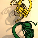 Drawings of headphones
