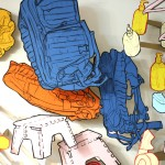 Drawings of a rucksack